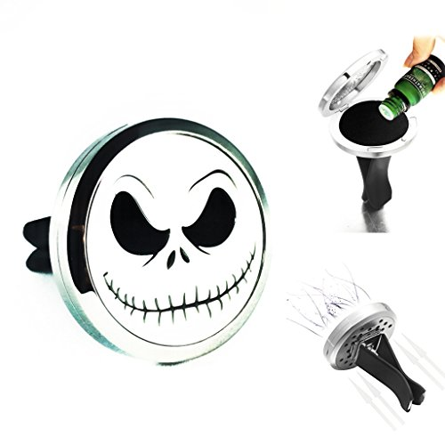 Christmas Aromatherapy - The Nightmare Before Christmas jack skellington Car Air Freshener Diffuser Vent Clip Locket Aromatherapy Essential Oils Great For Travel Pads included