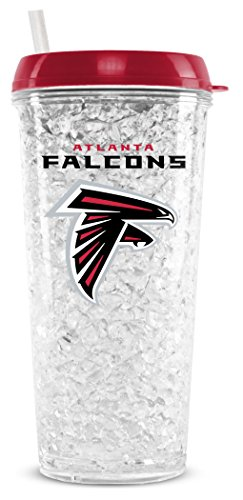 NFL Atlanta Falcons 16oz Crystal Freezer Tumbler with Lid and Straw Atlanta Falcons 16 Oz Crystal