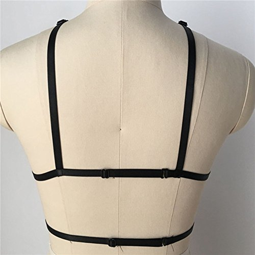 3e372abd5f Hyperdim Sexy Women Lingerie Halter Pentagram Body Harness Caged Bra  Cupless Bra Crop Top Strappy Bralette