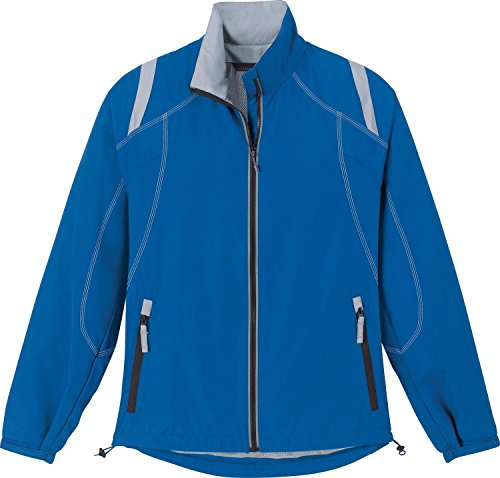 North End Ladies Lightweight Color-Block Jacket. 78076 - Large - Nautical Blue / Grey Luster