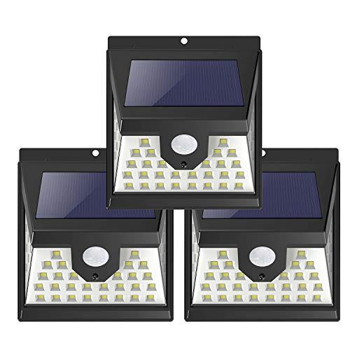 Leolee Solar Lights 3-pack 40 LED Solar Motion Sensor Lights