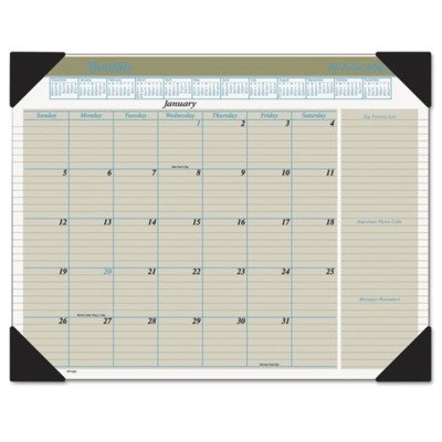 AT-A-GLANCE Visual Organizer Recycled Executive Desk Pad, 22 x 17 Inches, Black, 2013 (HT1500-13)