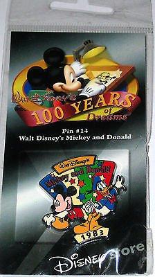 (Disney 100 Years of Dreams Pin #14 Walt Disney's Mickey and Donald)