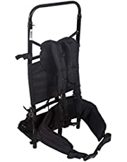 STANSPORT - Deluxe Freighter Aluminum Pack Frame with Back Pad and Hip Belt for Rough Terrain (Black)