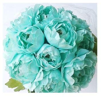 12-Ranunculus-Bouquet-Silk-Wedding-Bridal-Flowers-Centerpieces-10-Heads-Aqua