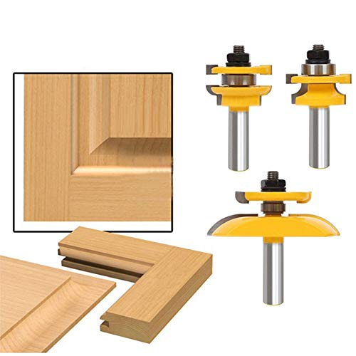l & Stile Ogee Blade Cutter Panel Cabinet Router Bits Set Milling cutter Power Tools Door knife Wood Cutter ()