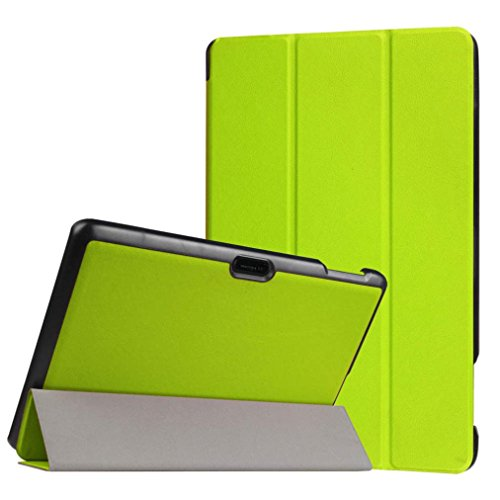 Cywulin Smart Protectiaon Durable Case Cover For Dragon Touch X10 10.6 Inch, Lightweigh Folding Stand Leather Case Cover Holder Stylish PU Leather Cover For Tablet (Green) (Leather Dragon Green)