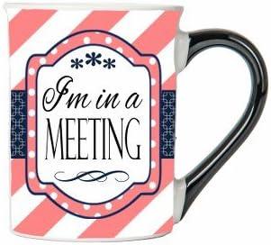 I'm In A Meeting Mug, Humor Coffee Cup, Ceramic Gifts For Her Mug, Custom Humor Gifts By Tumbleweed
