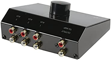 Nedis New HQ 3-Way Stereo Input Control Box Feed CD TV Tuner Into 1 Aux Input