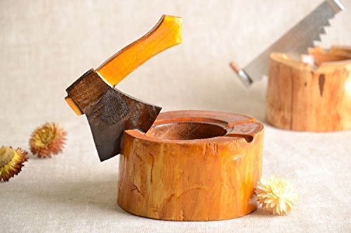 Handmade Ashtray Smoking Accessory Wooden Ashtray Gift For Man Designer Ashtray