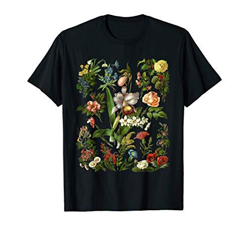 Vintage Inspired Flower Botanical Chart Shirt Men Women Gift T-Shirt