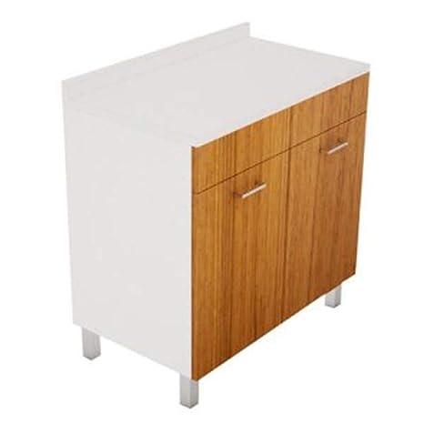 Mobile BASE per lavello Cucina Modello PRATIKA cm 80 x 50 Bianco ...