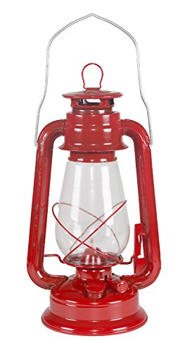 Stansport Hurricane High Oil Lantern (Red, 12-Inch)