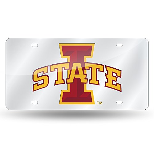 Rico Industries NCAA Iowa State Cyclones Laser Inlaid Metal License Plate Tag, ()