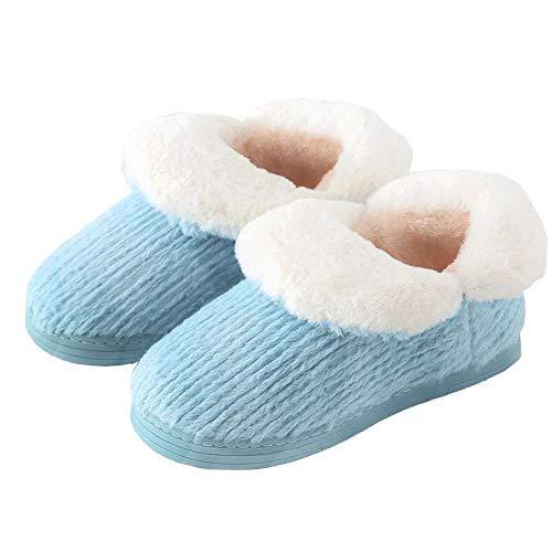 Women's Plush Indoor House Boots Warm Cotton Booties Slipper Cozy Knit Ankle qwOrqXU