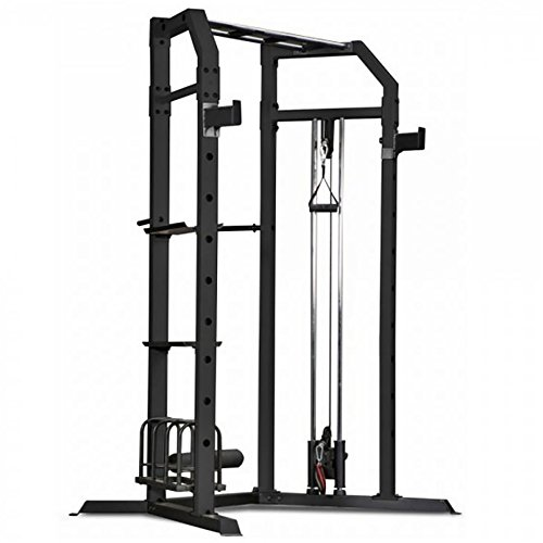 Marcy Olympic Multi-purpose Strength Training Cage with Pull Up Bars / Adjustable Bar Catchers and Pulley SM-3551 by Marcy