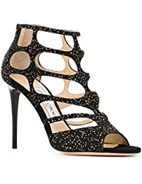 Women's Chamois Leather High Heel Sandals Shoes