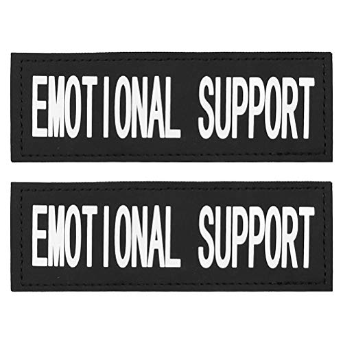 FAYOGOO Reflective Emotional Support Dog Patches with Hook Backing for Service Dog Vests Harnesses