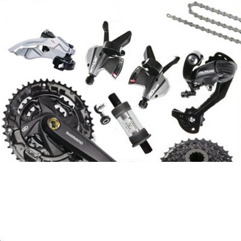 SHIMANO M370 variable speed kit 9 speed / 27 speed mountain bike transmission large package by JKSPORTS