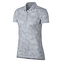 Nike Womens Dry Geo Printed Golf Polo (White, S)