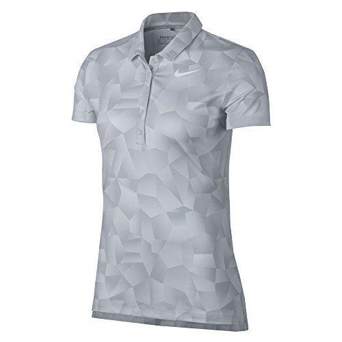 2ae6da0d Nike Women's Dry Geo Printed Golf Polo (White, M) (Platinum Golf Shirt