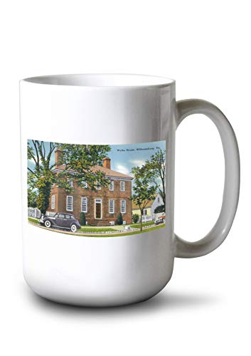 Lantern Press Williamsburg, Virginia - Exterior View of The Wythe House (15oz White Ceramic Mug) ()