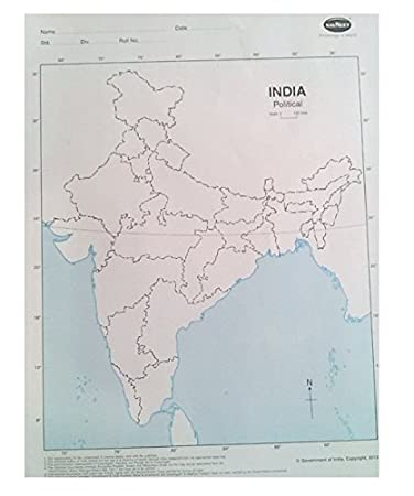 Navneet India Political Maps Pack Of 100 Sheets Amazon In Office