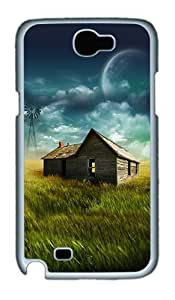 Samsung Galaxy Note 2 Case and Cover- Farmhouse In The Filed PC Case for Samsung Galaxy Note 2 / Note II / N7100 White