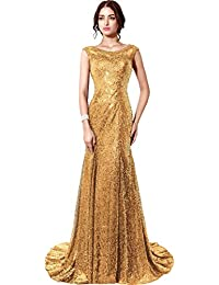 Amazon.com: Gold - Special Occasion / Dresses: Clothing, Shoes ...