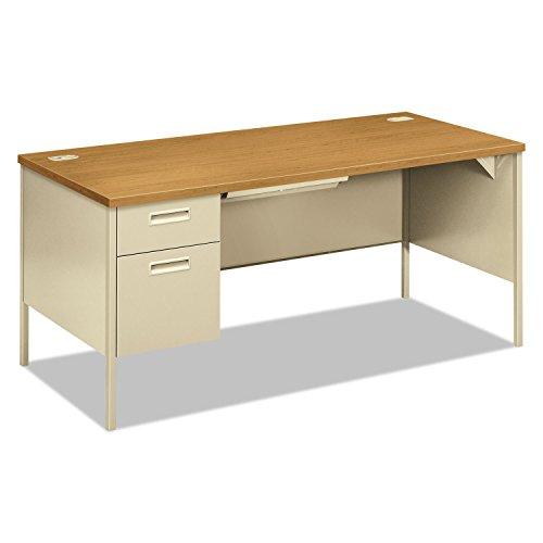 Return Pedestal Left Desk (HON Metro Classic Laminate  Office Desk - Left Pedestal Desk with File Drawer, 66