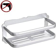 Gricol Badezimmer Duschecke dreieckiges Eckregal Duschwand Duschregal, patentierter Kleber + Doppelseitiges Klebeband, keine Beschädigung an Wandhalterung, für Badezimmer- und Küchenzubehör
