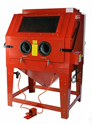 260 Gallon Large Floor Standing Sandblast Cabinet w/ Attached Vacuum System