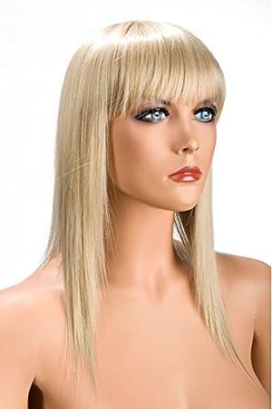 World Wigs Perruque Mi-Longue Blonde Effilé