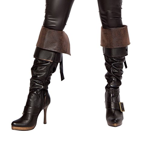 [Sexy Women's Deluxe Swashbuckler Pirate Boot Cover Costume Accessory] (Pirate Costumes Boot Covers)