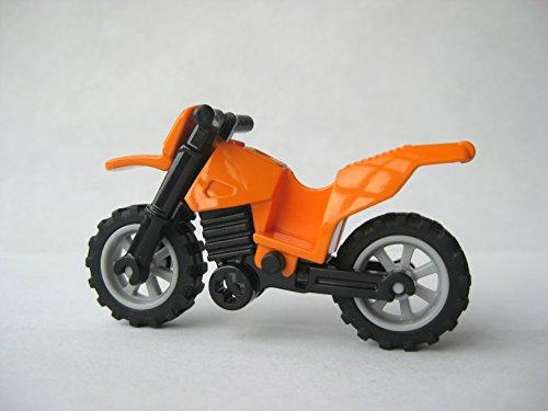 Lego Motorcycle Dirtbike -Orange- Loose Minifigure Accessory/Vehicle