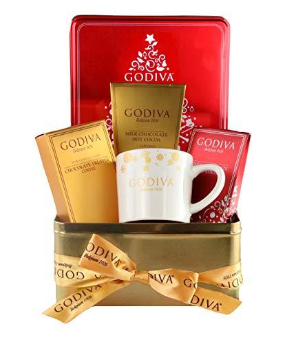 Thoughtfully Gifts, Godiva Hot Chocolate and Coffee Set...