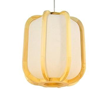Lámpara de madera sólida en forma de tambor de estilo ...