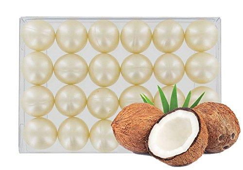 Box of 24 round oil bath pearls - fragrance coconut S&B SB110BTE24COCON