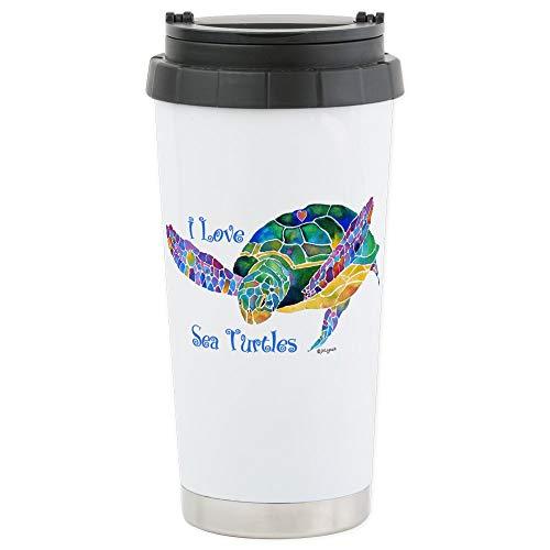 - CafePress Beautiful Sea Turtle Stainless Steel Travel Mug Stainless Steel Travel Mug, Insulated 16 oz. Coffee Tumbler