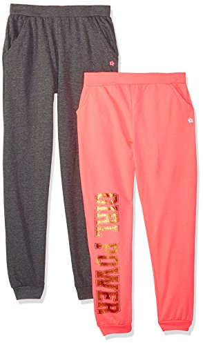 Limited Too Big Girls' 2 Pack French Terry Pant (More Styles Available), Multicolor Print 3888/4, 8 by Limited Too