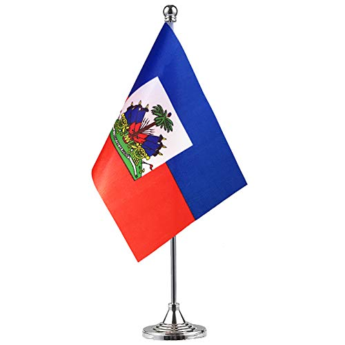 GentleGirl Haiti Flag Haitian Flag Table Flag,Desk Flag,Office Flag,International World Country Flags Banners,Festival Events Celebration,Office Decoration,Desk,Home - Flag Country Haiti