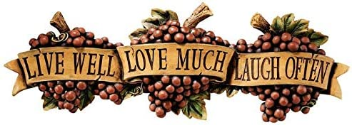 Design Toscano Live-Love-Laugh Wall Sculpture