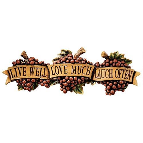 Design Toscano Live-Love-Laugh Wall Sculpture (Decor Laugh Plaques Love Live)