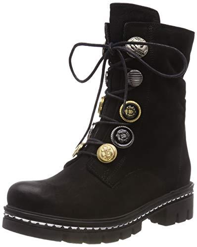 Schwarz 298 Boots Fersengold 611 Black Ankle 001 Women's 5AvnwYqH