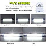 LETOUR LED Tube Magnetic Light Work Lights 4000Lumens 5 Lighting Options Camping Lantern USB Rechargeable Portable Battery Powered Lights with 4 Magnets Endurance for 60 Hours