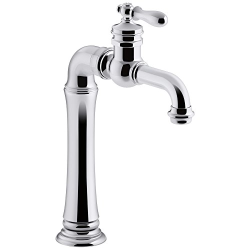 Polished Chrome Soda Fountain - KOHLER K-99268-CP Artifacts Gentleman's Bar Sink Faucet, Polished Chrome, Single Handle, Prep Faucet, Secondary Faucet, Single Hole Installation, Entertainment Faucet