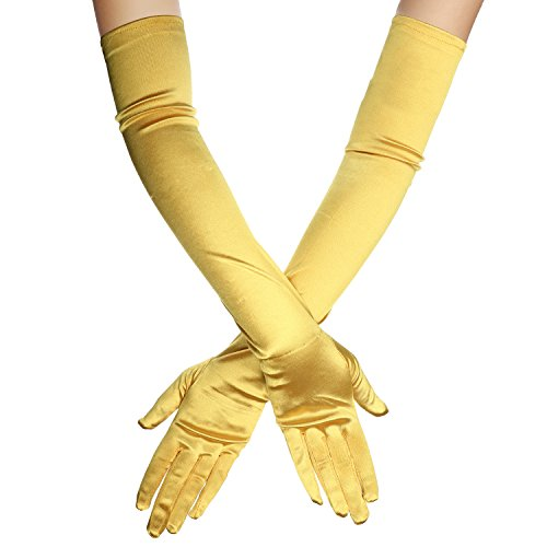 (1920s Opera Satin Long Gloves 19.5
