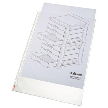 Esselte-Leitz 47181 - Paquete de 10 fundas transparentes Standard Plus para archivador A3: Amazon.es: Oficina y papelería