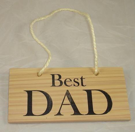 Best Dad Hanging Sign Hand Made In UK of Cedar (8x4) Leeway Woodwork