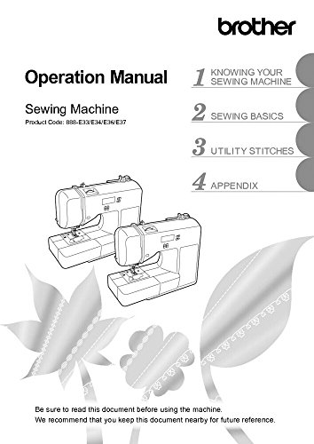 - Brother CE1125PRW Sewing Machine Owners Instruction Manual [Plastic Comb] There and Back